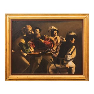 "20th Century Oil Painting after ""The Calling of St. Matthew"" by Caravaggio For Sale"