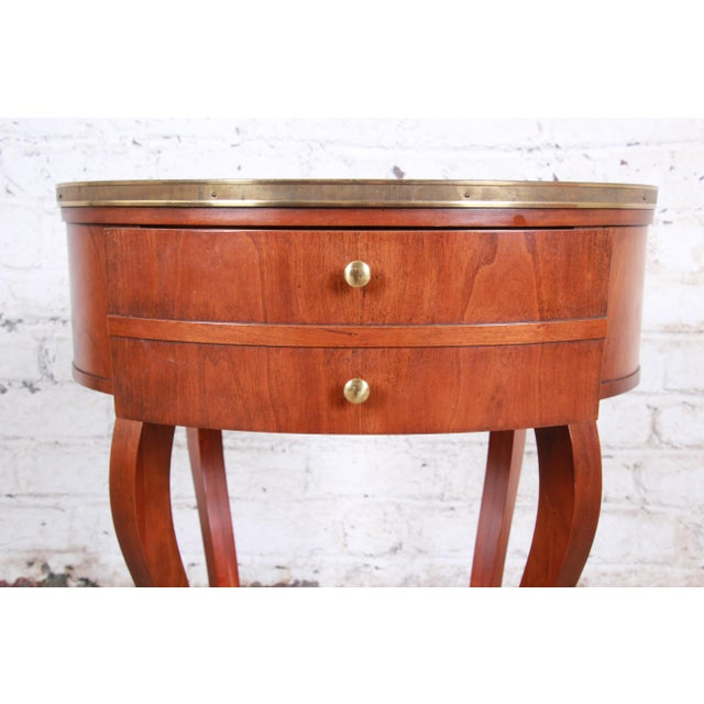 Baker Furniture French Regency Mahogany and Brass Side Table For Sale - Image 9 of 13