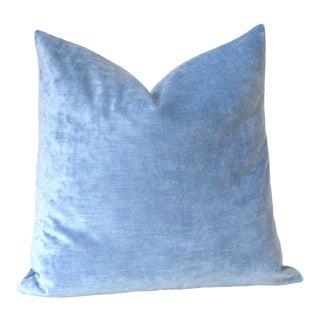Ice Blue Velvet Euro Sham 26x26 For Sale