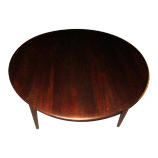 1960s Danish Modern Peter Hvidt for France & Son Round Teak Coffee Table For Sale
