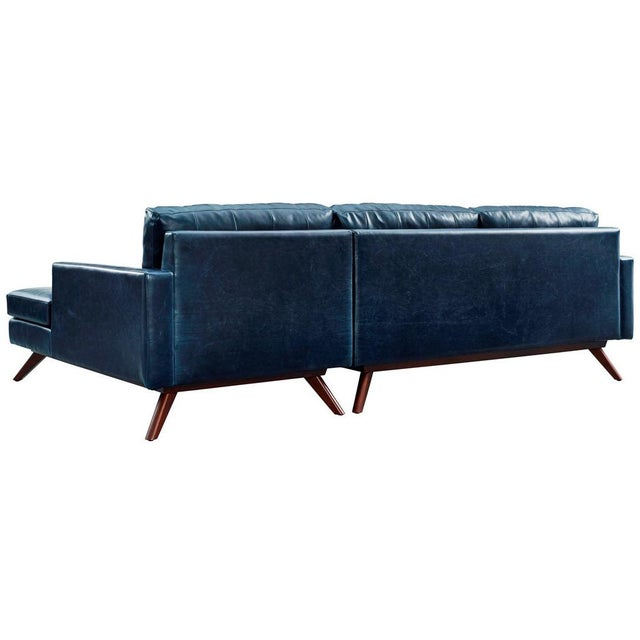 Two Piece Antiqued Leather Sectional Sofa - Image 3 of 4
