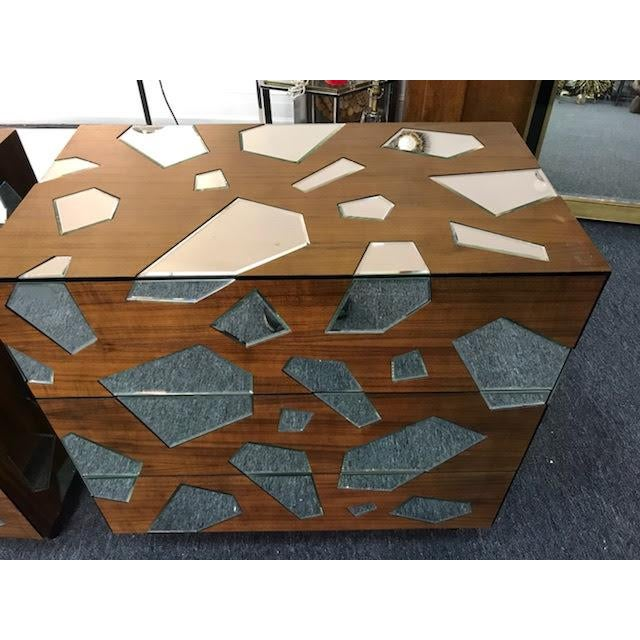 Early 21st Century Mirrored Commodes or Side Tables - a Pair For Sale - Image 4 of 6