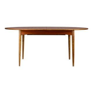 Danish Modern Teak Oval Dining Table For Sale