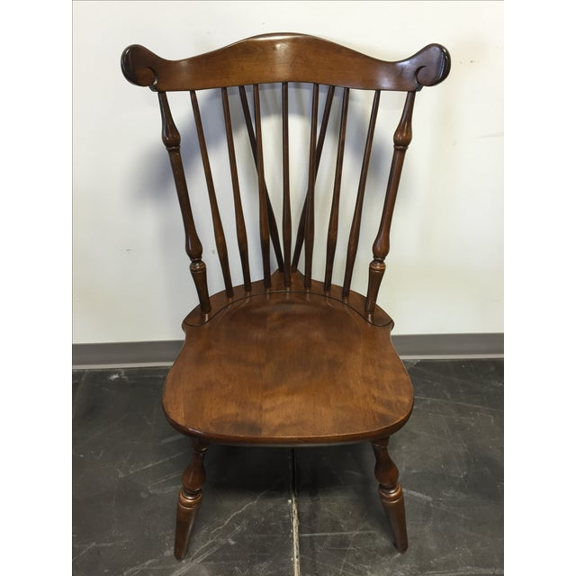 Brown Temple Stuart Rockingham Windsor Dining Chairs -Set of 6 For Sale - Image 8 of 11