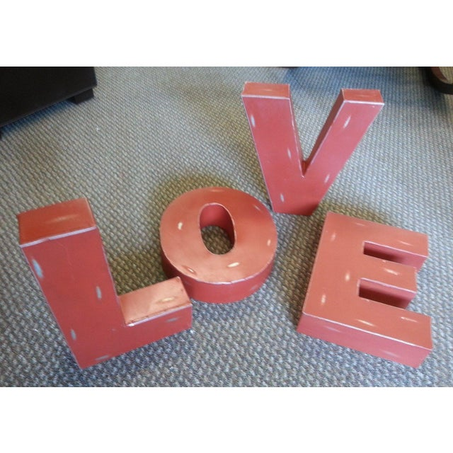 "Industrial Metal Hanging ""Love"" Letters - Set of 4 - Image 3 of 7"