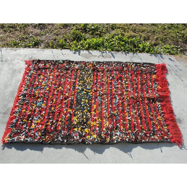 "Red Moroccan Tribal Kilim Rug - 2'7"" X 4' - Image 6 of 6"