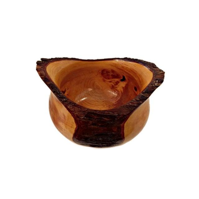 Hand Turned Texas Elm Wood Bowl - Image 2 of 4