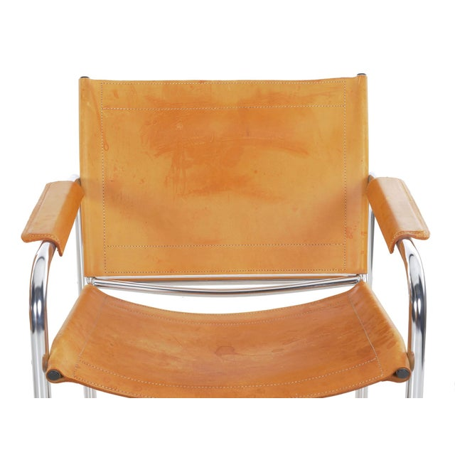 """Circa 1970s Vintage Chrome and Leather """"Klint"""" Arm Chairs by Tord Bjorklund - a Pair For Sale - Image 6 of 13"""
