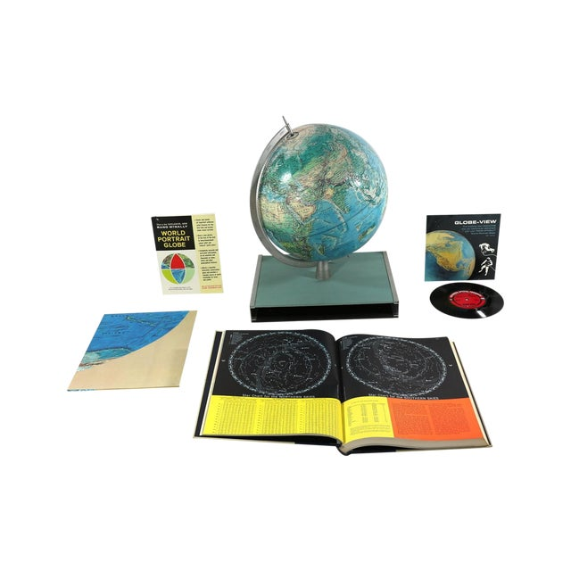 1960s Rand McNally New World Portrait Globe Set - Image 1 of 7