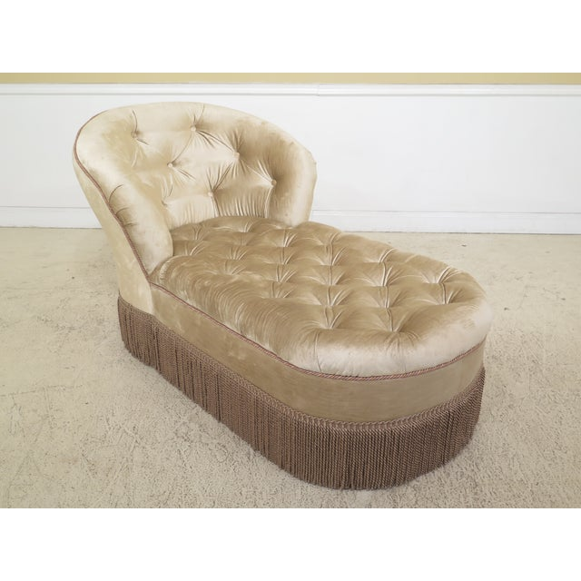 1990s Vintage Custom Upholstered Tufted Chaise For Sale - Image 12 of 12