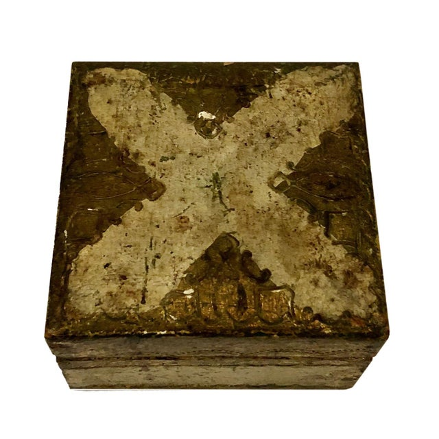 Antique Small Turn of the Century Florentine Box For Sale - Image 4 of 7