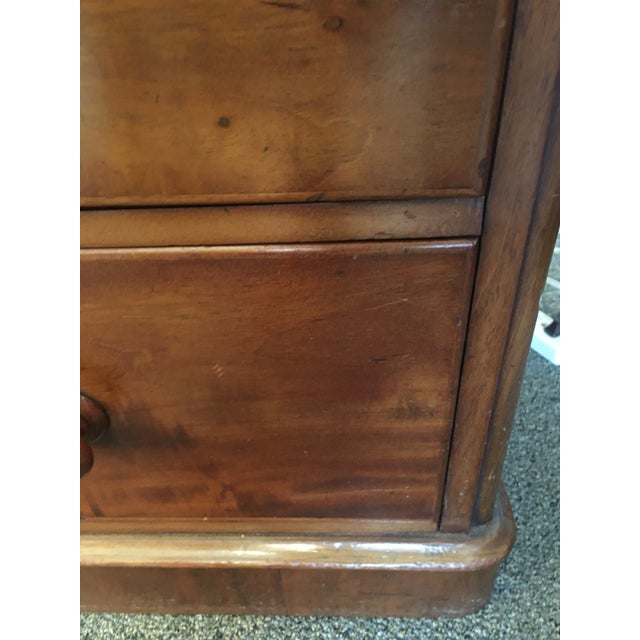Wood English Antique Mahogany Chest of Drawers With Swing Mirror For Sale - Image 7 of 8