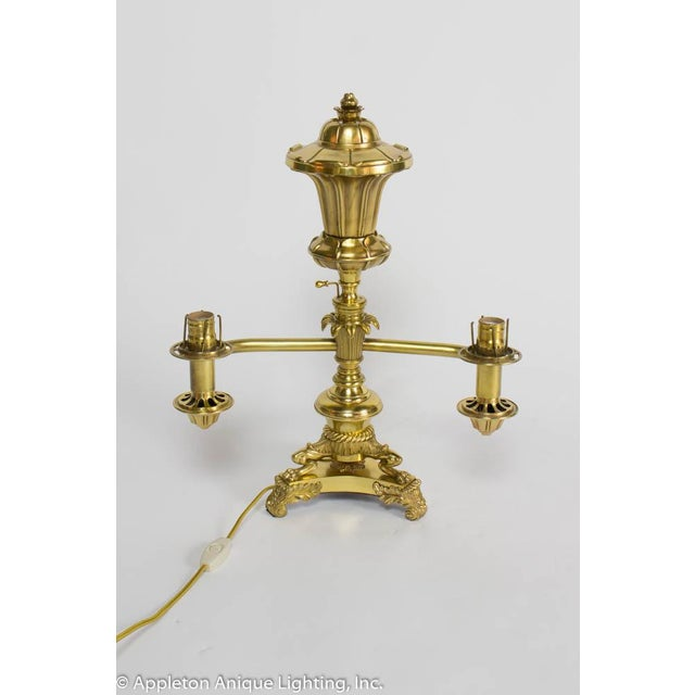 Restored 19th Century Brass Argand Lamp For Sale - Image 9 of 12
