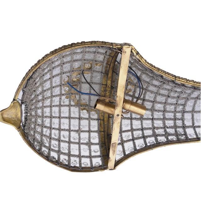 Brass Pair French Empire Basket Sconces Paris Apartment Large Pair Napoleon Sconces For Sale - Image 7 of 8