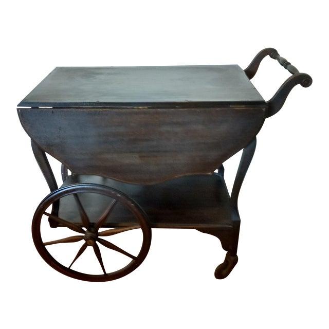 Antique Walnut Tea Cart Trolly - Image 1 of 4
