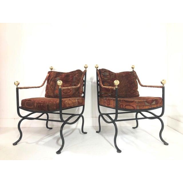 Black Pair of Italian Hollywood Regency Savonarola Chairs For Sale - Image 8 of 8