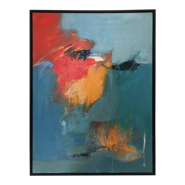 """""""Unconscious Echo"""" Abstract Painting on Canvas For Sale"""