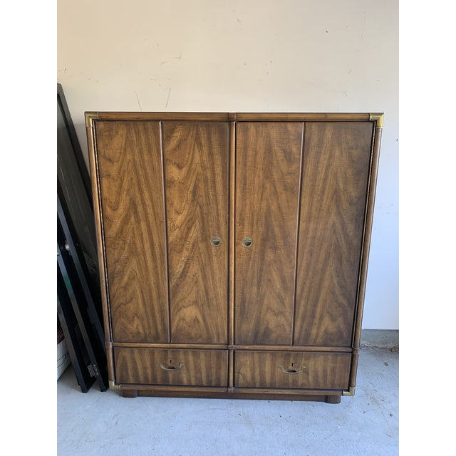 Mid-Century Modern Drexel Highboy Cabinet For Sale - Image 9 of 9