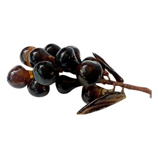 Vintage Amber Glass Grape Bunch
