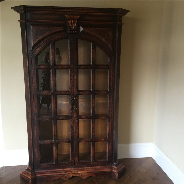 Traditional Wooden Armoire with Beveled Glass - Image 2 of 5
