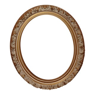Vintage French Provincial Country Small Ornate White Picture Frame For Sale
