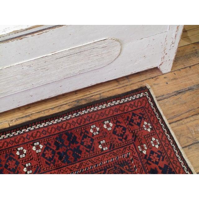 Primitive Antique Baluch Rug For Sale - Image 3 of 8