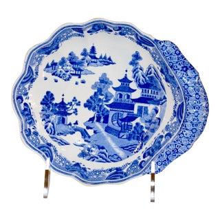 Early Spode Shaped Dish For Sale