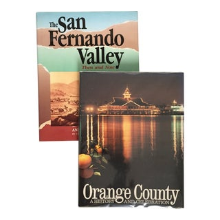 "1988 ""Orange County"" and ""The San Fernando Valley Then & Now"" First Edition Books - a Pair For Sale"