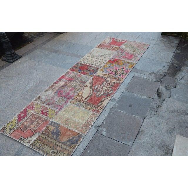 Islamic Tribal Floor Patchwork Runner Rug - 2′11″ × 9′4″ For Sale - Image 3 of 6