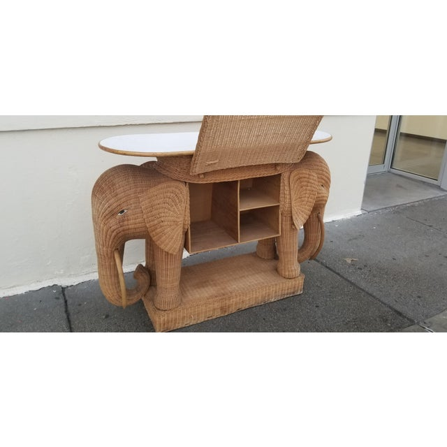1980s 1980's Mario Torres Style Wicker Elephant Bar For Sale - Image 5 of 8