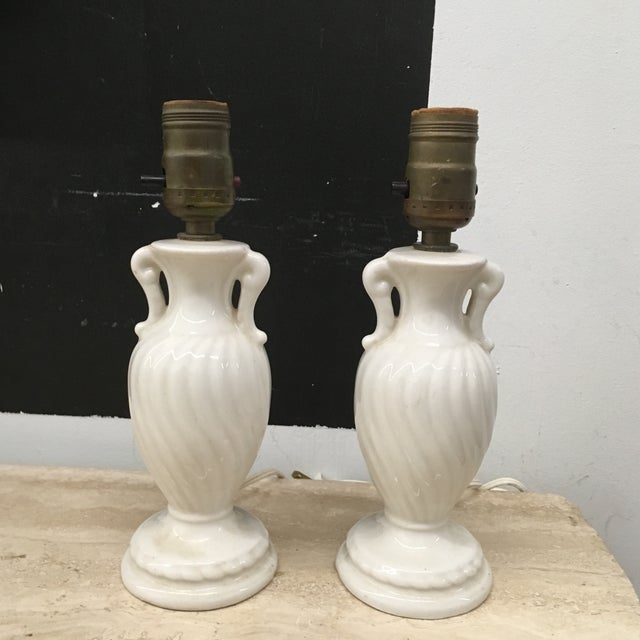 Lamps - Vintage Petite Urn Shaped Lamps - a Pair- For Sale In Providence - Image 6 of 6
