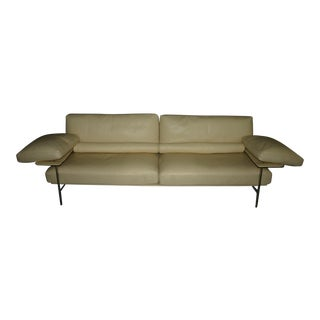B&B Italia Diesis Cream Leather Sofa
