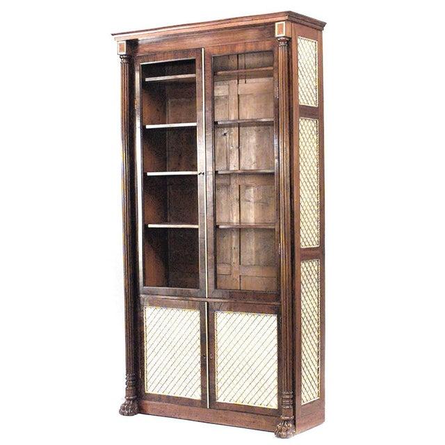 English Regency Mahogany Bookcase For Sale - Image 4 of 4