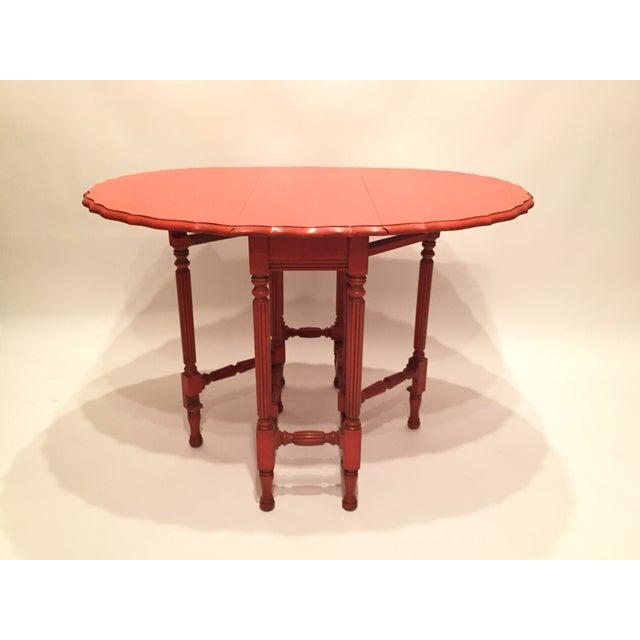 Vintage Orange Drop Leaf Table - Image 7 of 11