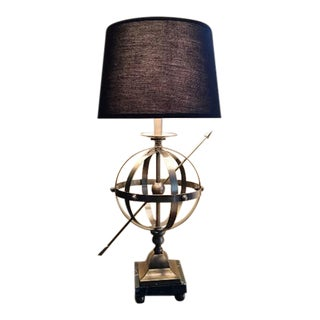 Brass Armillary Sphere Lamp For Sale