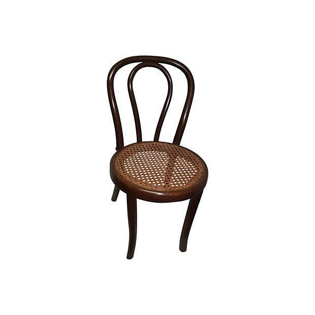 Bentwood & Caning Child's Chair For Sale - Image 4 of 4