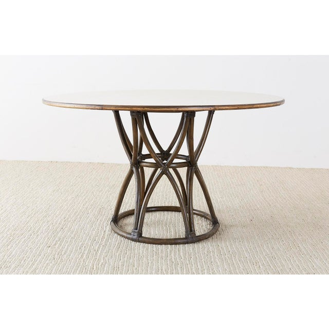 Contemporary McGuire Organic Modern Round Game or Dining Table For Sale - Image 3 of 13