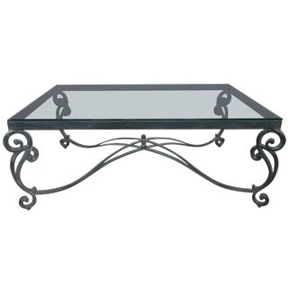French Wrought Iron Coffee Table For Sale