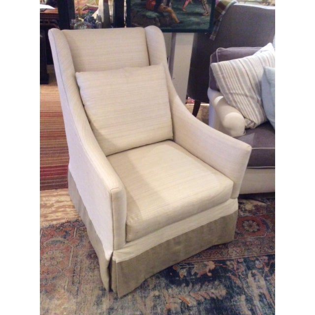White Modern Lee Industries Swivel Chair Item # 3471-01sw For Sale - Image 8 of 8