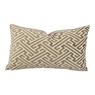 Holly Hunt Labyrinth Geometric Fretwork Lumbar Pillow Cover For Sale