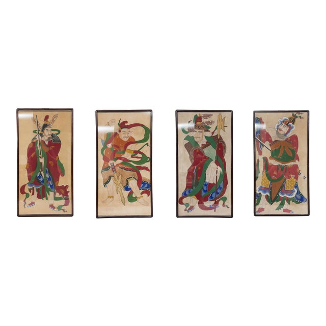 Grouping of Ancient Chinese Warriors Hand-Painted For Sale