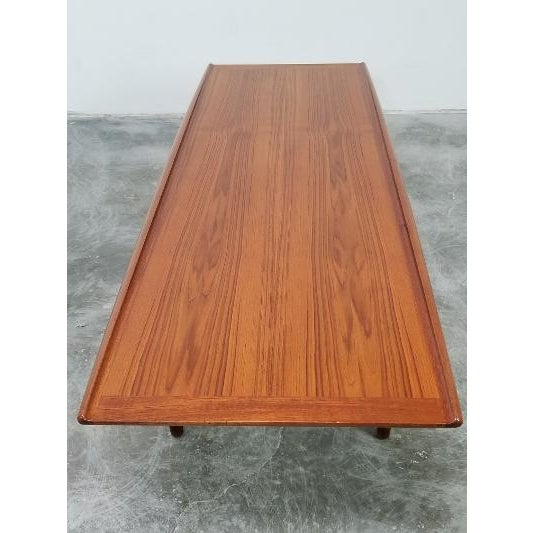 Brown 1960s Mid-Century Danish Coffee Table by Grete Jalk For Sale - Image 8 of 11