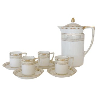 Nippon Porcelain Coffee Service - Set of 9 For Sale