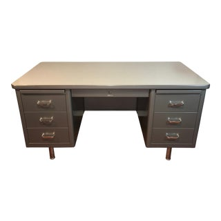Steelcase Mid-Century Industrial Tanker Desk For Sale