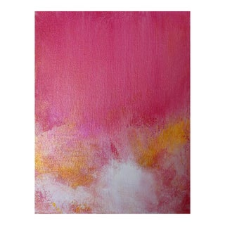 "Abstract ""Love Potion"" Pink Gold Metallic Painting on Canvas"
