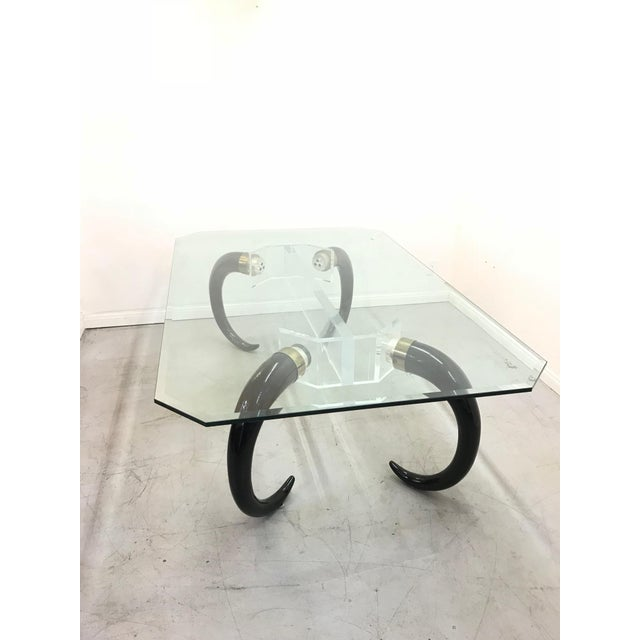 1970s 1970s Mid-Century Modern Karl Springer Style Faux Elephant Tusk Dining Table For Sale - Image 5 of 9