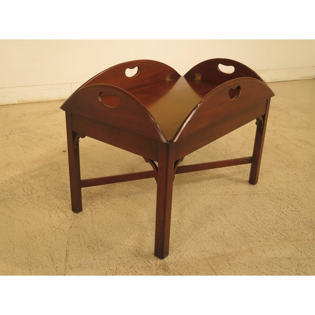 Kittinger Chippendale Mahogany Butler Coffee Table - Image 3 of 11
