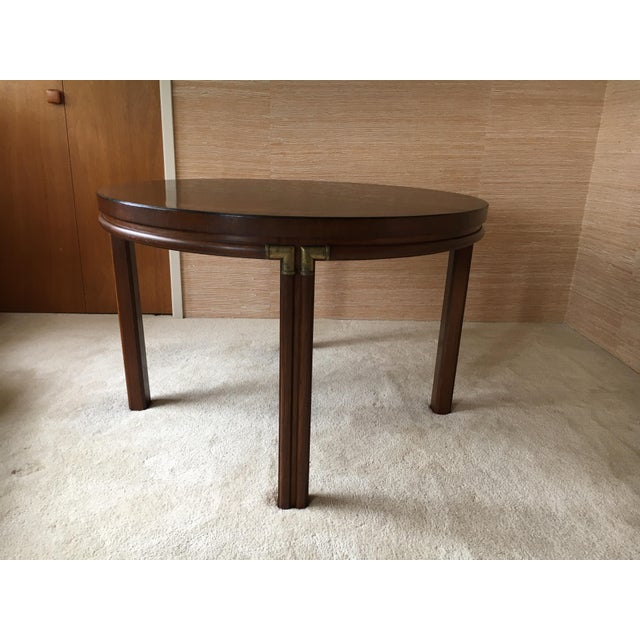 Contemporary Vintage Drexel Heritage Accolade Campaign Style Card Table For Sale - Image 3 of 12