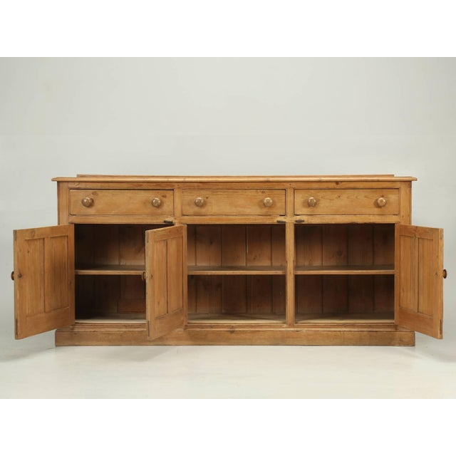 Antique English Pine Buffet/Sideboard or Dresser Base Circa 1900 For Sale - Image 9 of 10