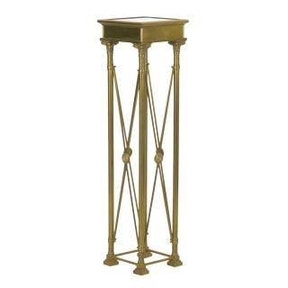 Vintage French Directoire Style Brass Pedestal Accent Table in Jansen Taste For Sale
